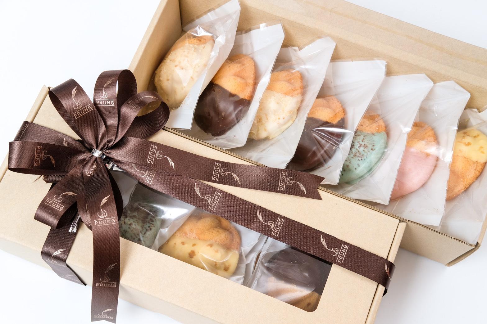 ชุดกล่องของขวัญขนมไข่เคลือบรวมรส